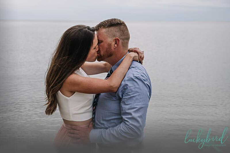 artsy engagement photos detroit beach