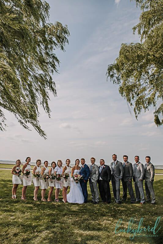 bridal party at maumee bay wedding