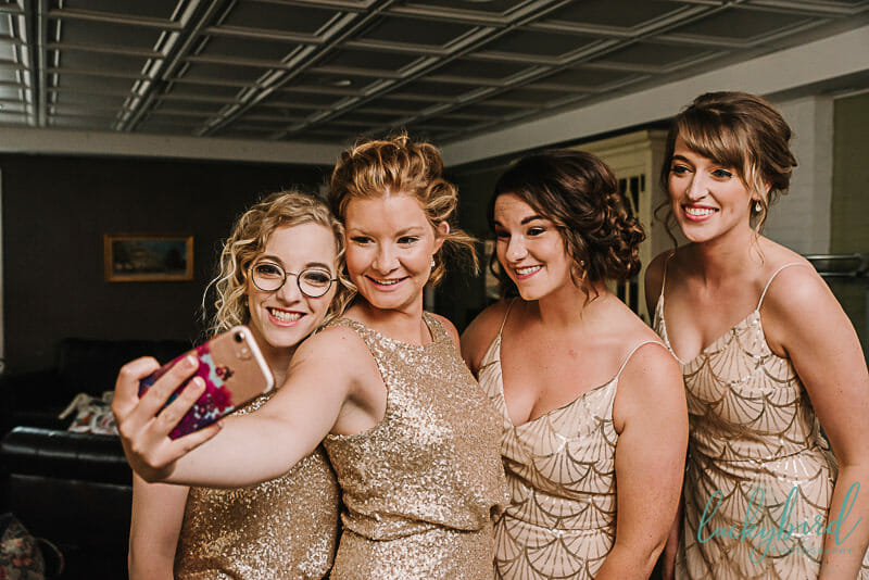 bridesmaids selfie in napoleon ohio
