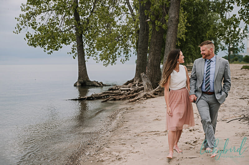 detroit beach engagement photography