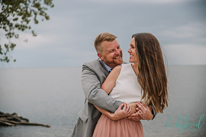 engagement photos at sterling state park
