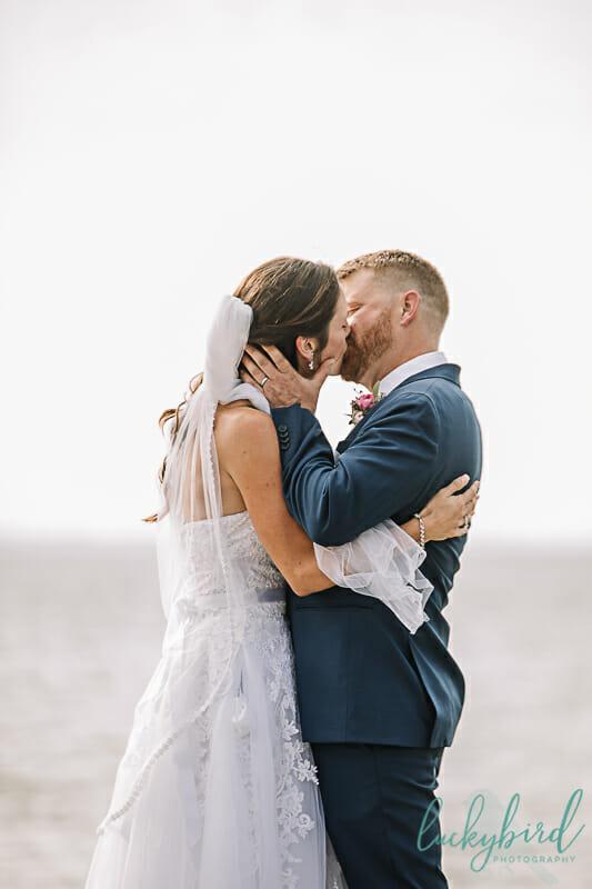 first kiss maumee bay wedding