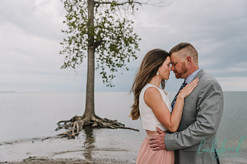 gorgeous engagement photos at sterling state park