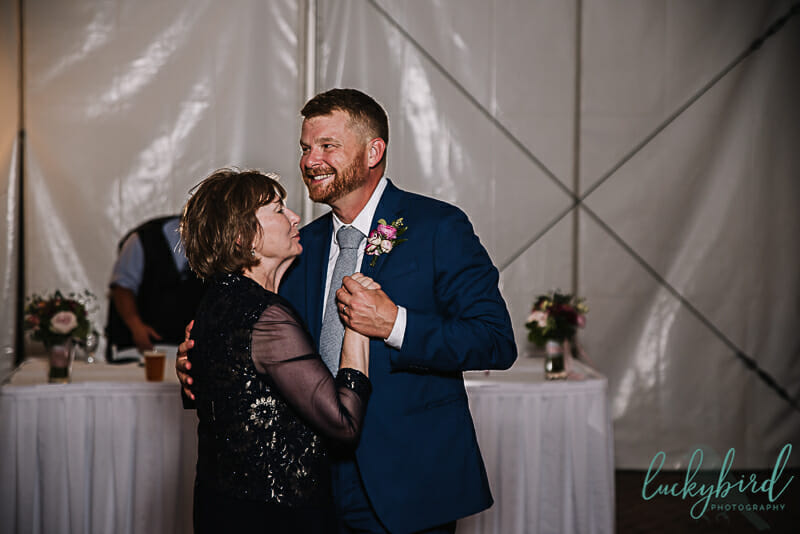 maumee bay mother son dance inside tent