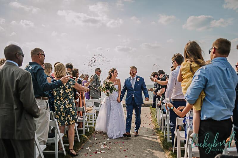 maumee bay wedding confetti toss