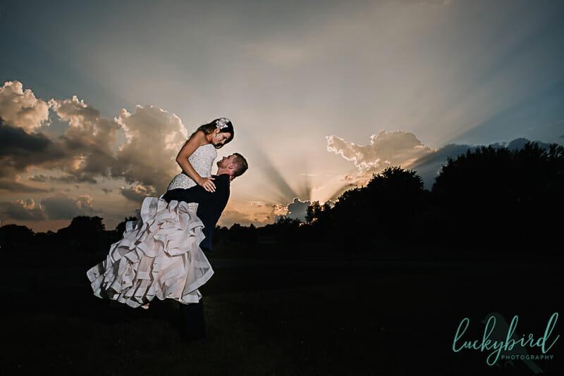sunset wedding photos in napoleon ohio