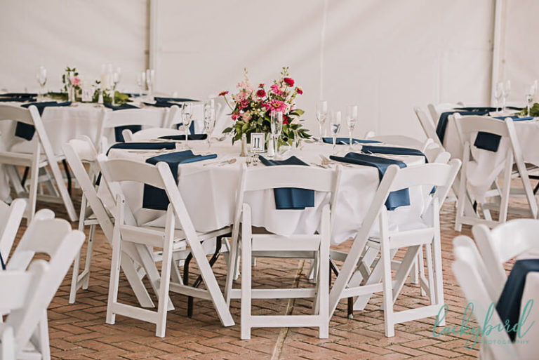 tented waterfront wedding reception at maumee bay