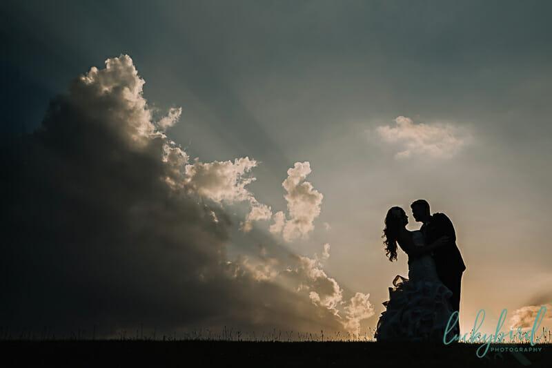 the armory napoleon sunset wedding photo