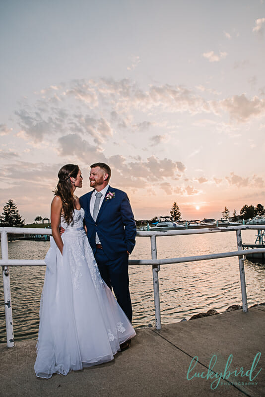 toledo waterfront wedding ceremony by the beach
