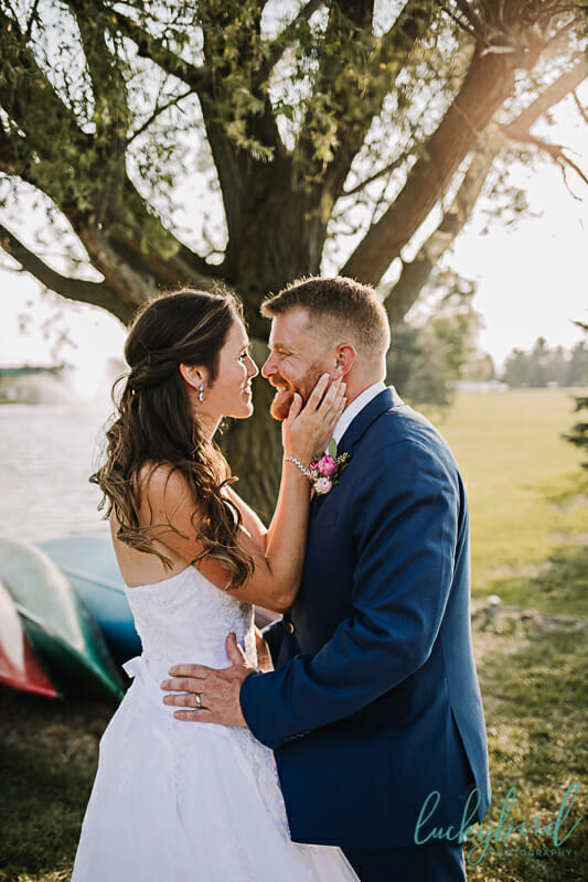 wedding photos at maumee bay beach