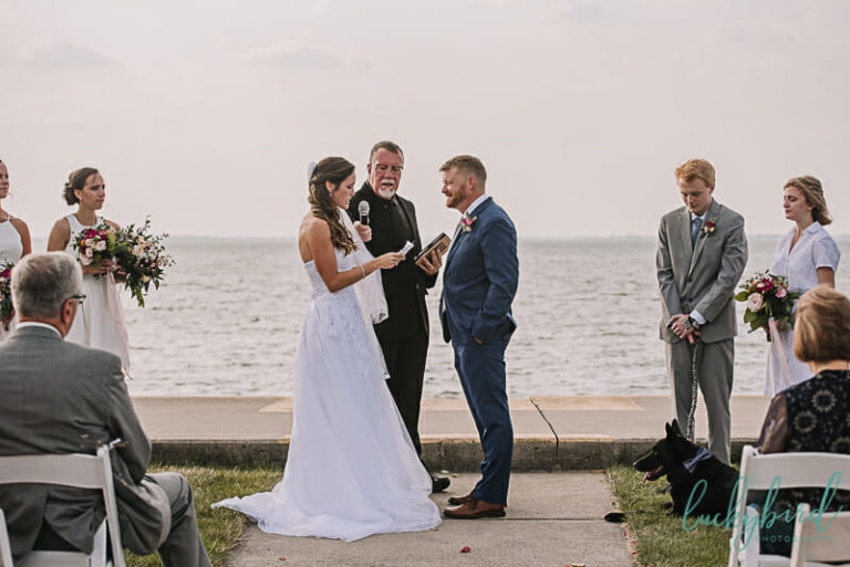 wedding vows by the water at maumee bay