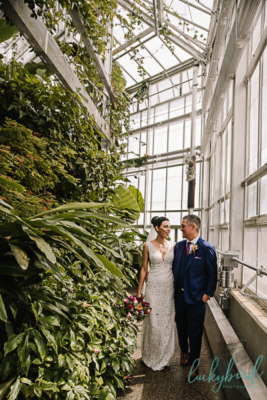 Toledo Zoo Conservatory wedding photos