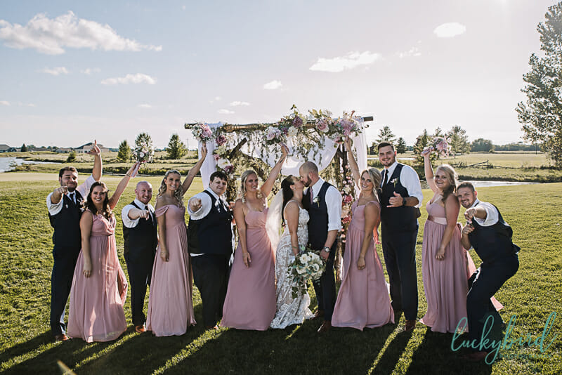 bridal party photo at stone ridge