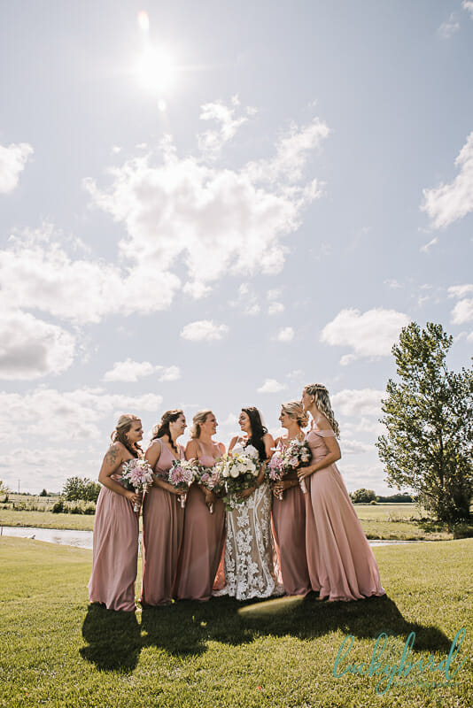 bridesmaids photo in toledo ohio