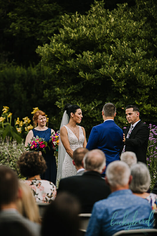 garden wedding ceremony at the toledo zoo