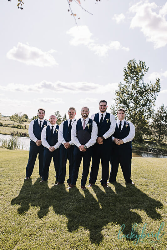 groomsmen photo in toledo ohio