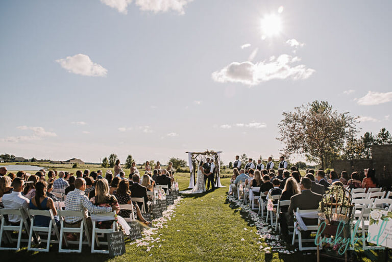 stone ridge outdoor wedding ceremony