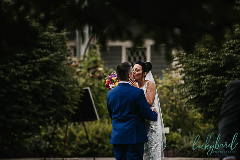 toledo zoo wedding in the ceremony