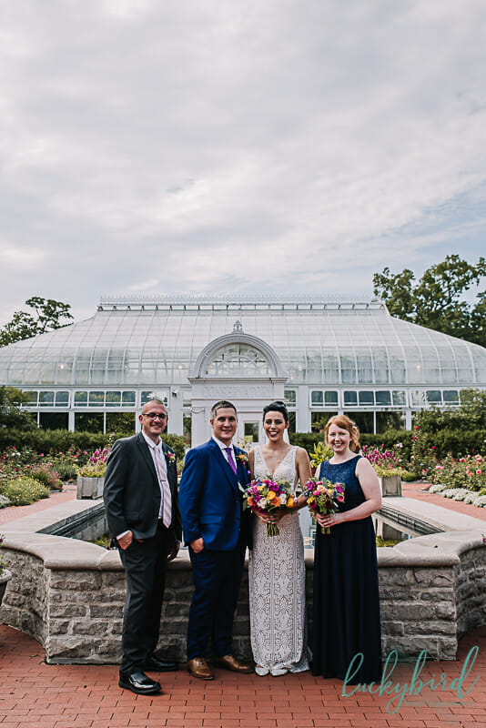 toledo zoo wedding party photo