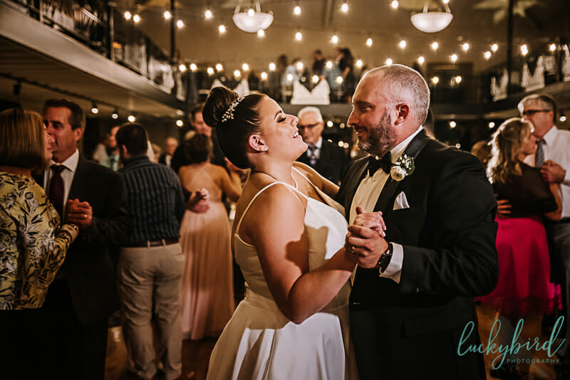 dancing at nazareth hall wedding venue