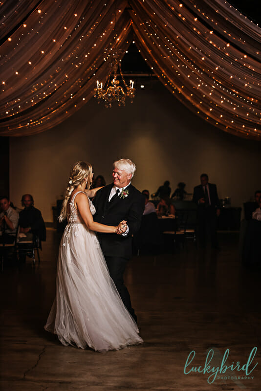 father daughter dance at registry bistro wedding