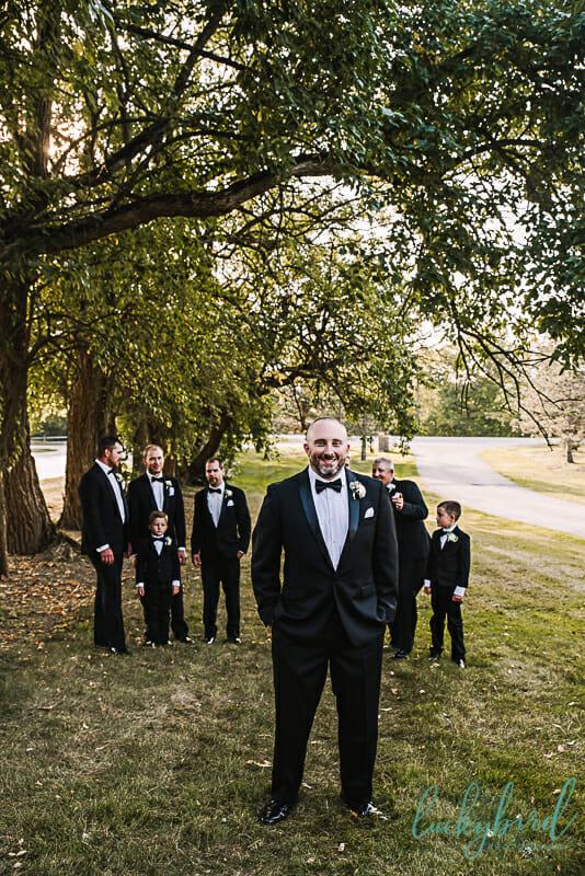 groom and groomsmen at nazareth hall