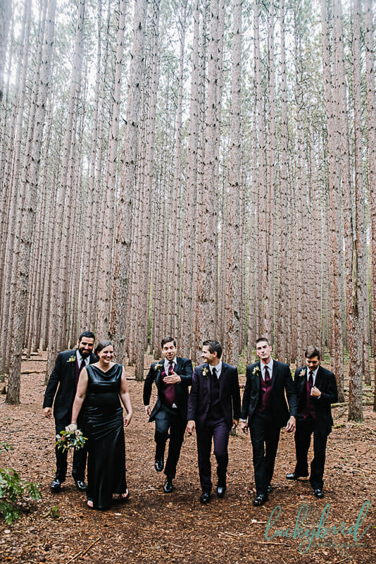 groom and groomsmen at the spot oak openings