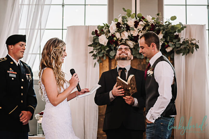 indoor ceremony at the stables whitehouse ohio