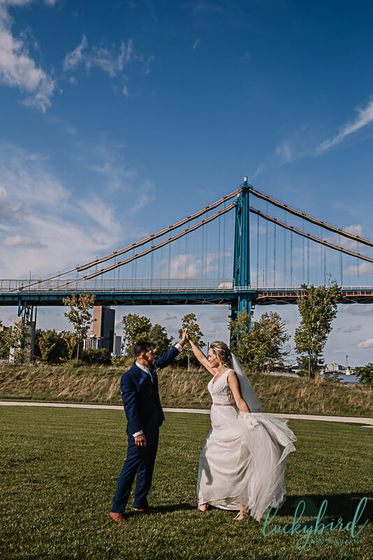 middle grounds park toledo wedding photos