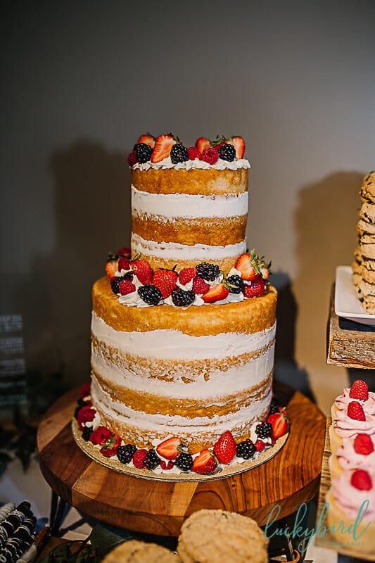 naked cake at nazareth hall