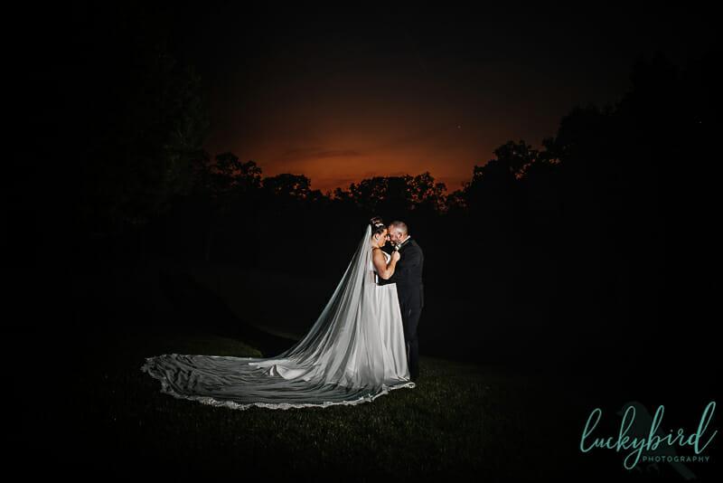 night photo at nazareth hall wedding