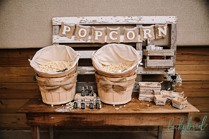 popcorn display at the stables