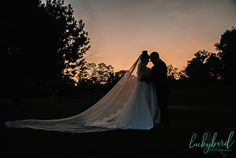 sunset photo at nazareth hall wedding