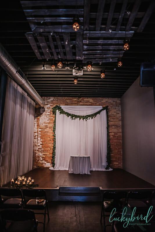 the blarney indoor wedding ceremony