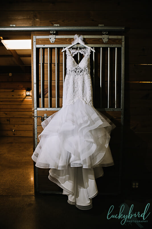 the stables wedding dress photo