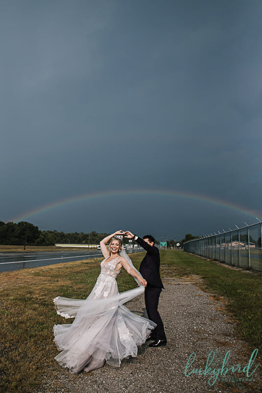toledo rainbow wedding photo