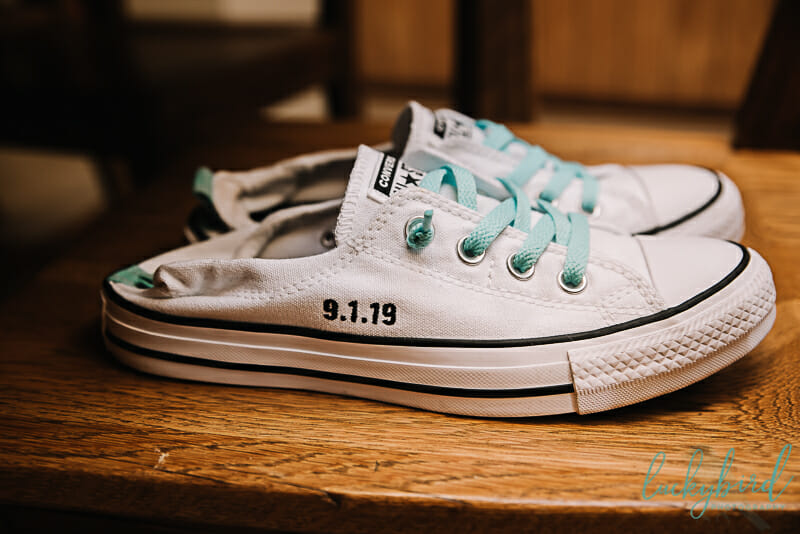 wedding day converse for the bride