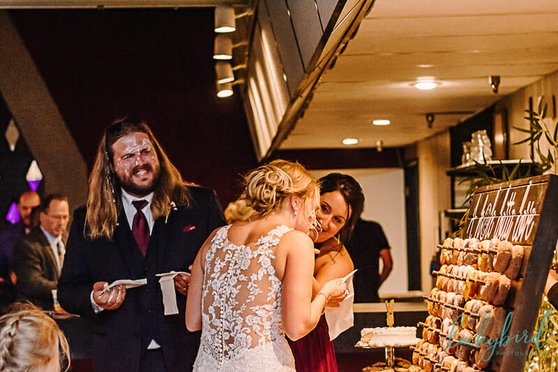big cake smash toledo wedding