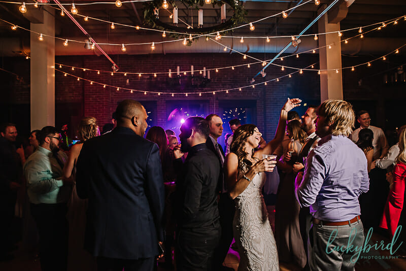 bride on the dance floor at fleetwoods toledo wedding