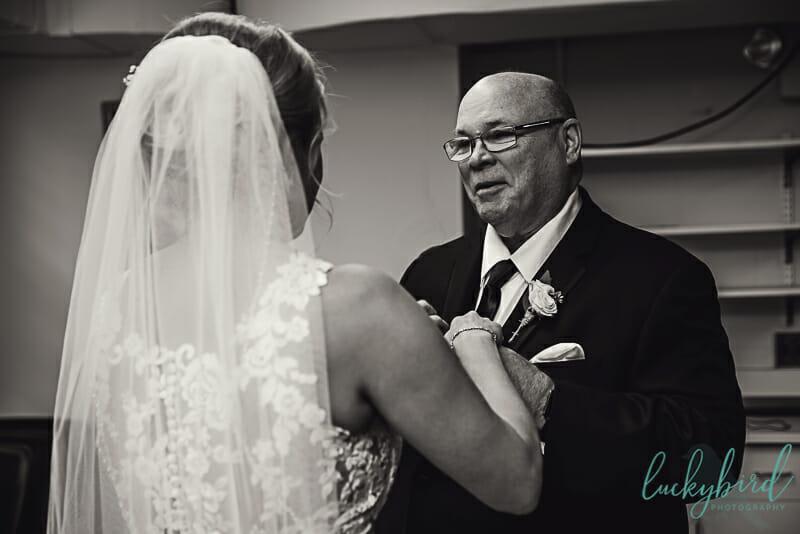 dad seeing bride at st rose perrysburg