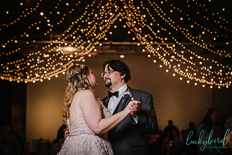 first dance at registry bistro wedding