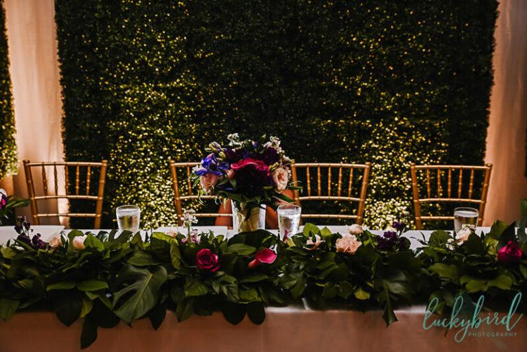 mager designs wedding decor in registry bistro