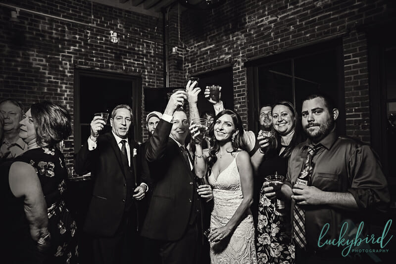 photo of shots during hensville wedding