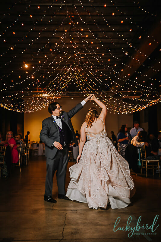 registry bistro wedding dancing photo