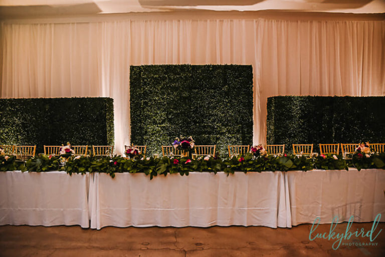 registry bistro wedding decor boxwood walls mager designs