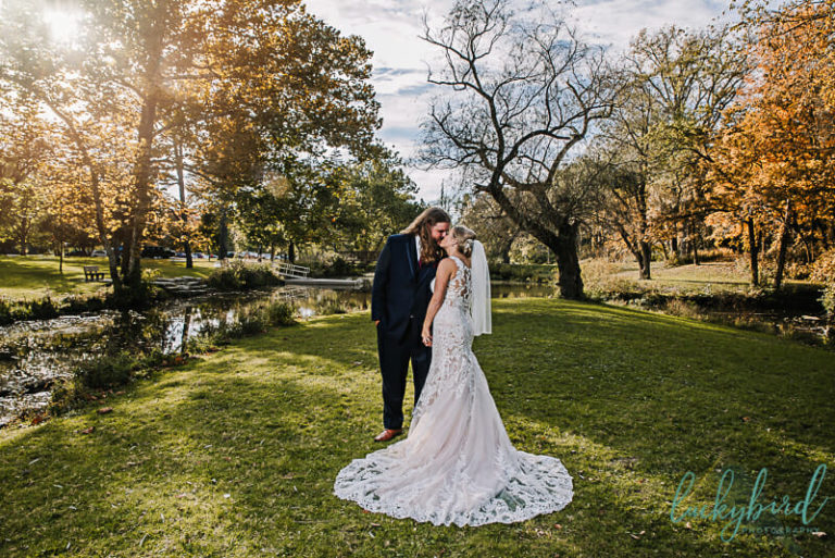 sidecut wedding photos in the fall