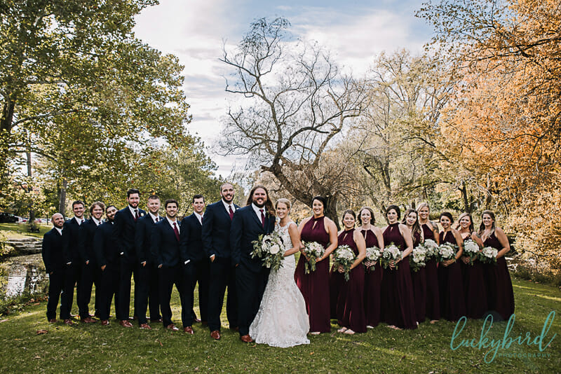 sidecut wedding photos with bridal party