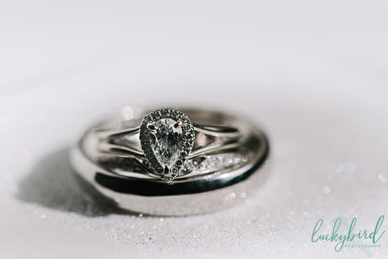 silver wedding rings with glitter toledo