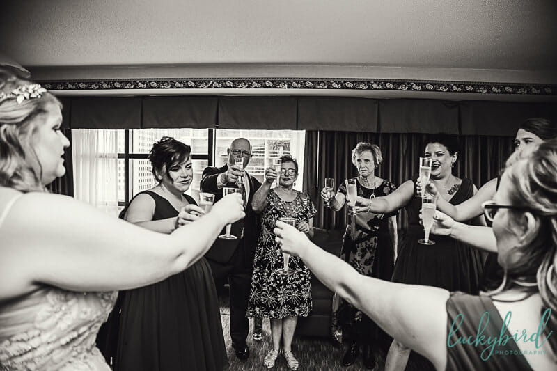 wedding toast at the park inn