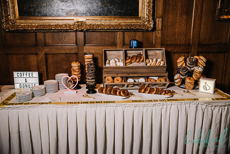 donut station bar at toledo club wedding